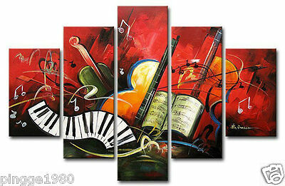 Beautiful Modern Abstract Huge Wall Decor Oil Painting 5pc (no framed) P035