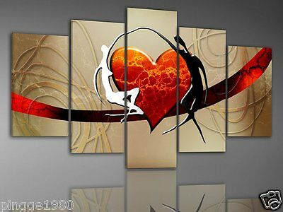 MODERN ABSTRACT HUGE WALL ART OIL PAINTING ON CANVAS 5PC (NO frame)P076