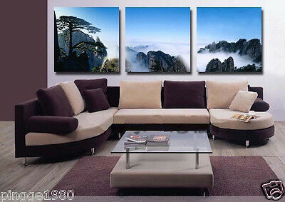 3pc MODERN ABSTRACT HUGE WALL ART OIL PAINTING ON CANVAS  (no framed) P087