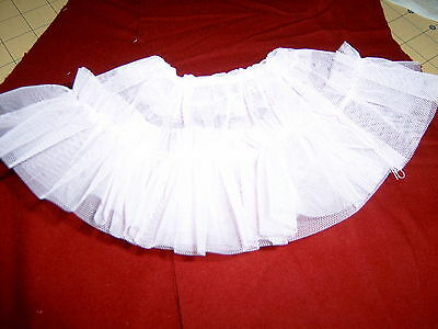 WHITE HALF SLIP crinoline for VINTAGE 15 inch AMERICAN CHARACTER TINY TEARS DOLL