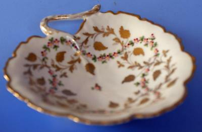 Limoges Leaf Dish French Continental Hand Painted Porcelain Signed Le Tallec