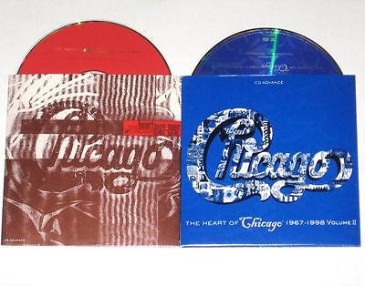 Chicago The Heart Of VOL 1 & 2 Original Promo Advance CD In Card Covers 31 Songs