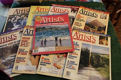 Lot of 9 back issues of The Artist's Magazine Mar Apr 1995 and 1996 - Art - LUD