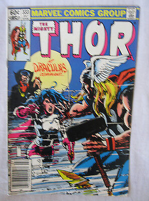 THOR THE MIGHTY COMIC BOOK 1983 Vol 1 No. 333 July 1983 At Dracula's Command Bat