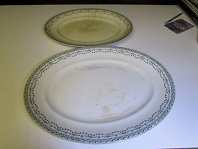 Pair of Vintage Charger Serving Plates