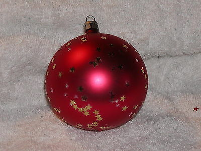 Lot of Two Vintage glass ball Christmas tree Ornaments holiday set