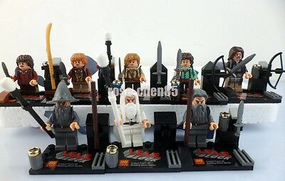 8 Sets Mini Figures Lord of the Rings Building Toys Gandalf Boromir Peregrine #9