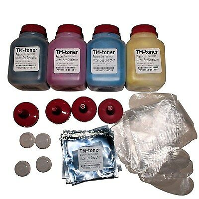 4-Pack HY  KCMY Chips-Toner Refill Kit For Dell C2660 C2660DN C2665DNF Printer