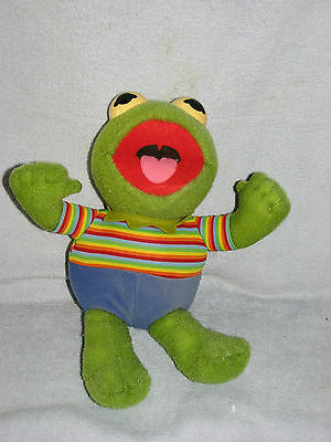 Hasbro Softies 1983 Sesame Street Muppet Babies Kermit the Frog Plush Toy Doll
