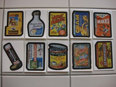 "Wacky Packages ANS6 - ""Whats in the Box"" subset of 10"