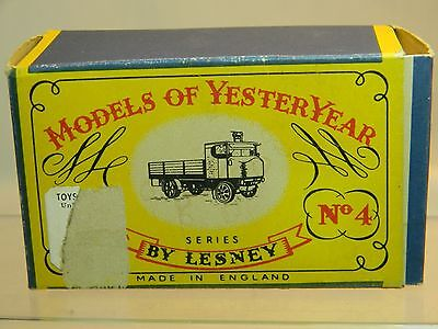 "LESNEY"" Models of Yesteryear"" 4-Y-4 1915 SENTINEL (Shrewsbury) STEAM WAGON OB"