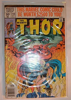 MARVEL COMICS THE MIGHTY THOR SEPTEMBER 1980 VOLUME 1 NO 299 IN NICE CONDITION