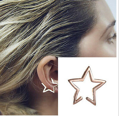 Hot Retro Vintage Punk New Design Fashion Hollow out Star Drop Hook Earring 1pc