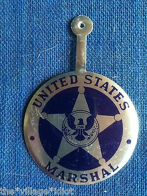 Vintage 1950s U S United States Marshal Tin Toy Badge Playsuit Cowboy Halloween