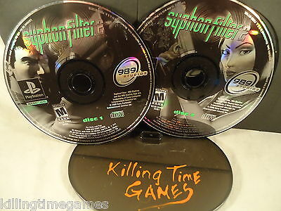 Syphon Filter 2 ! ( Playstation PS1 Game ) (DISK ONLY) TRUSTED! TESTED! CLEANED!