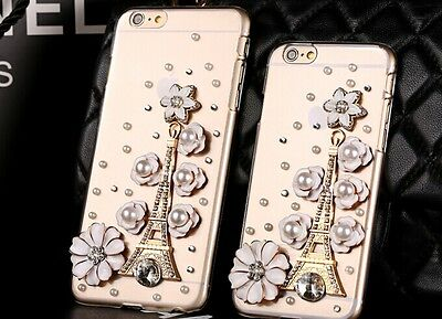 """New Handmade Crystal  Eiffel Tower 3D DIamonds Case Cover For iPhone 6 4.7"""" @@"""