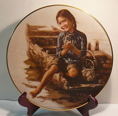 SAMPAN GIRL  CHILDREN OF ABERDEEN, PAINTED AND SIGNED BY THE MASTER, Kee,Fung,Ng