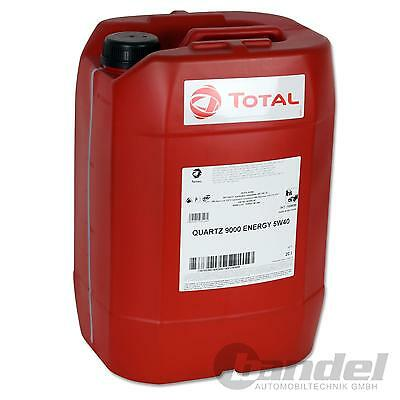 [3,60€/L] 20 Liter TOTAL Quartz 9000 ENERGY 5W-40 Motoröl 5W40 VW MERCEDES BMW