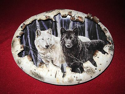 2000 The Bradford Exchange Prophets Of The Pack Wolf Plates By Rusty Frentner