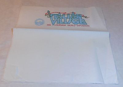 Vintage Old New Orleans 1984 World's Fair Italian Village Napkin Rare
