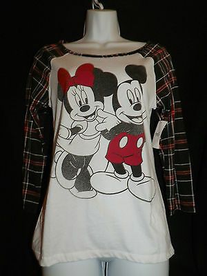 New Disney Brand Mickey And Minnie Mouse Long Sleeve Top- Medium