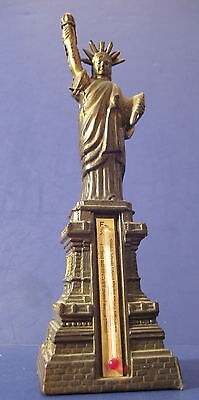 "Vintage Souvenir Metal Building Statue of Liberty 6"" Highly Detailed 1960's"