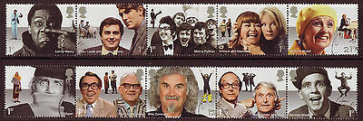 Great Britain 2015 Comedy Greats Set Of 10  Fine Used