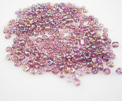 FREE SHIPPING Lots Charm NEW 2mm 1000pcs 15g Czech glass seed beads In purple AB
