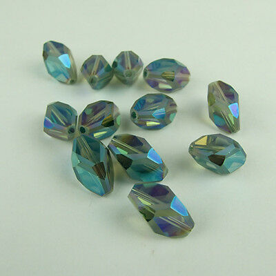 Multi-faceted 8mm 10pcs glass crystal charms loose beads color blue new