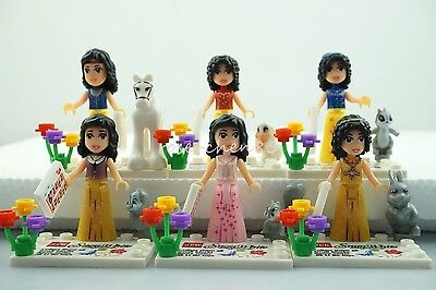 6 Sets Mini Figures Snow White and the Seven Dwarfs Building Toys Dog Horse #HY5