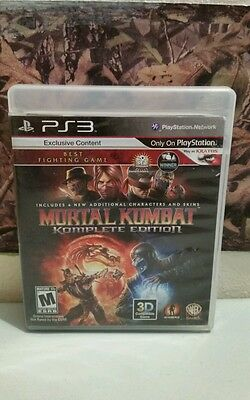 Mortal Kombat Komplete Edition (Sony Playstation 3, 2011) Complete NTSC-U/C