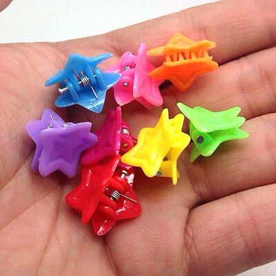 NEW Free shipping 30pcs Fashion Mixed colors Plastic Hair Clip Clamp D23C