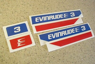 Evinrude Outboard Vintage Decal Kit 2 3 4 6 HP FREE SHIP + FREE Fish Decal!