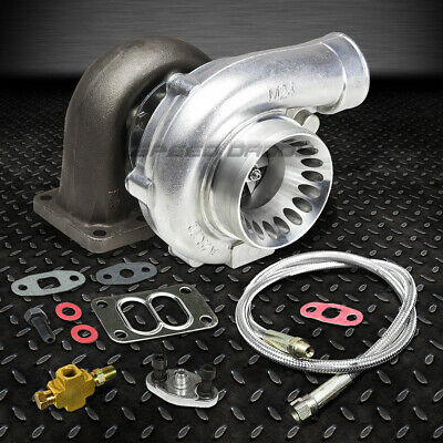 "T70 T3 59 Trim A/r.70 Stage Iii 500+Hp Anti-Surge Turbo Charger+36""oil Feed Line"