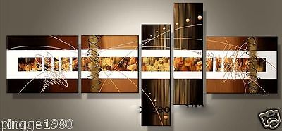 5pc Modern Oil Painting On Canvas: larger art (no framed)P139