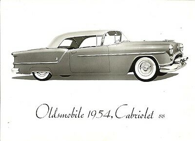 Oldsmobile 1954, Cabriolet 88, Period Press Photograph.