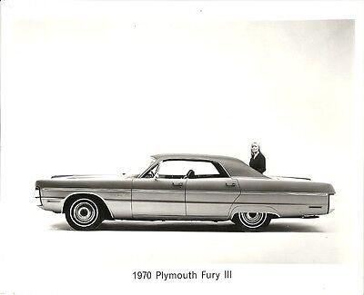 1970 Plymouth Fury Iii Period Press Photograph.
