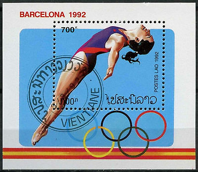 Laos 1992 SG#MS1287 Olympic Games Cto Used M/S #A83996