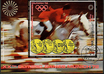 Yemen 1972 Olympic Games Cto Used M/S #A84004