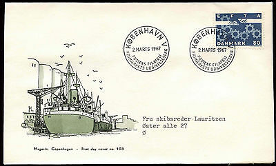 Denmark 1967 EFTA FDC First Day Cover #C21310