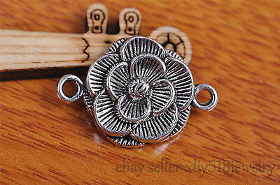 5s 26*18mm flower pendant bead Charm Tibet silver metal plated diy jewelry 7103