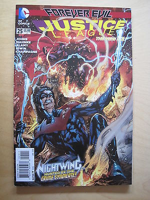 JUSTICE LEAGUE #  25 by JOHNS. 1st PRINT.  FOREVER EVIL.  THE NEW 52. DC. 2014