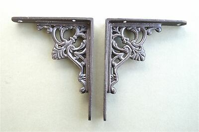 Pair Of Small Regency Antique Style Shelf Brackets Cast Iron Shelving Bracket S1