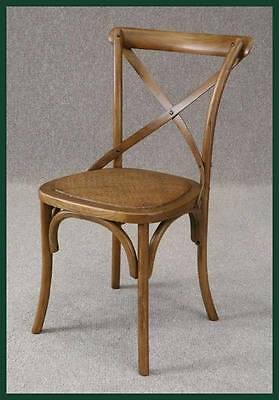 Bentwood Cross Back Elm Kitchen Chair Dining Chair With A Rattan Seat