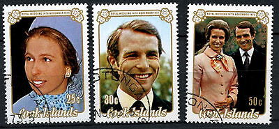 Cook Islands 1973 Royal Wedding Used Set  #R652
