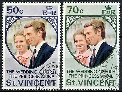 St. Vincent 1973 Royal Wedding Used Set  #R659