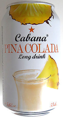 24 x CABANA PINA COLADA LONG DRINK CIDER AROMATISIERT PARTY COCKTAIL 0,33l