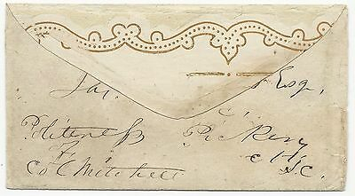 CSA Wallpaper Cover South Carolina Hagood Correspondence Handcarried Outside PS