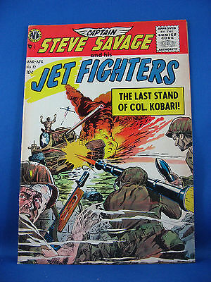 CAPT SAVAGE AND HIS JET FIGHTERS 12 Fine VF Wally Wood 1956 Avon