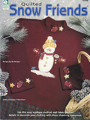 Quilted Snow Friends~Fun T-Shirts to Applique, Paint Highlights by MS Designs